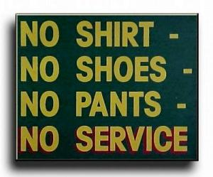 no pants sign