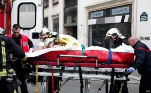APTOPIX France Newspaper Attack