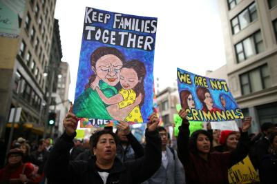 immigrant kids protest