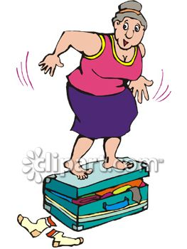 Fat_Woman_Jumping_On_Her_Overfilled_Suitcase_Trying_to_Get_It_Closed_clipart_image