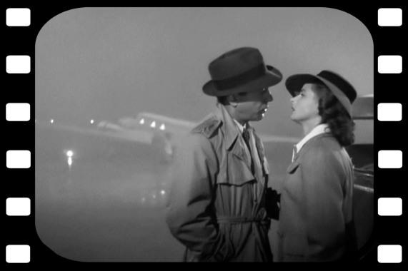 Casablanca Bogie and Ingrid the fog
